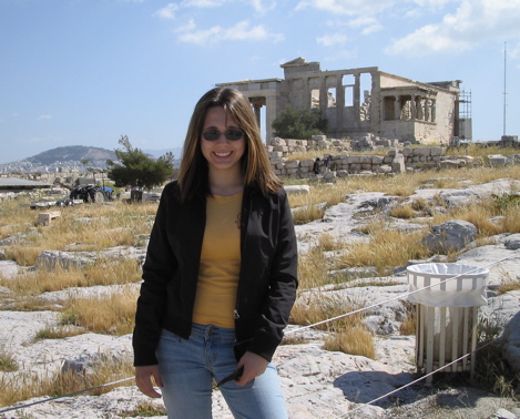 Annie on the Acropolis