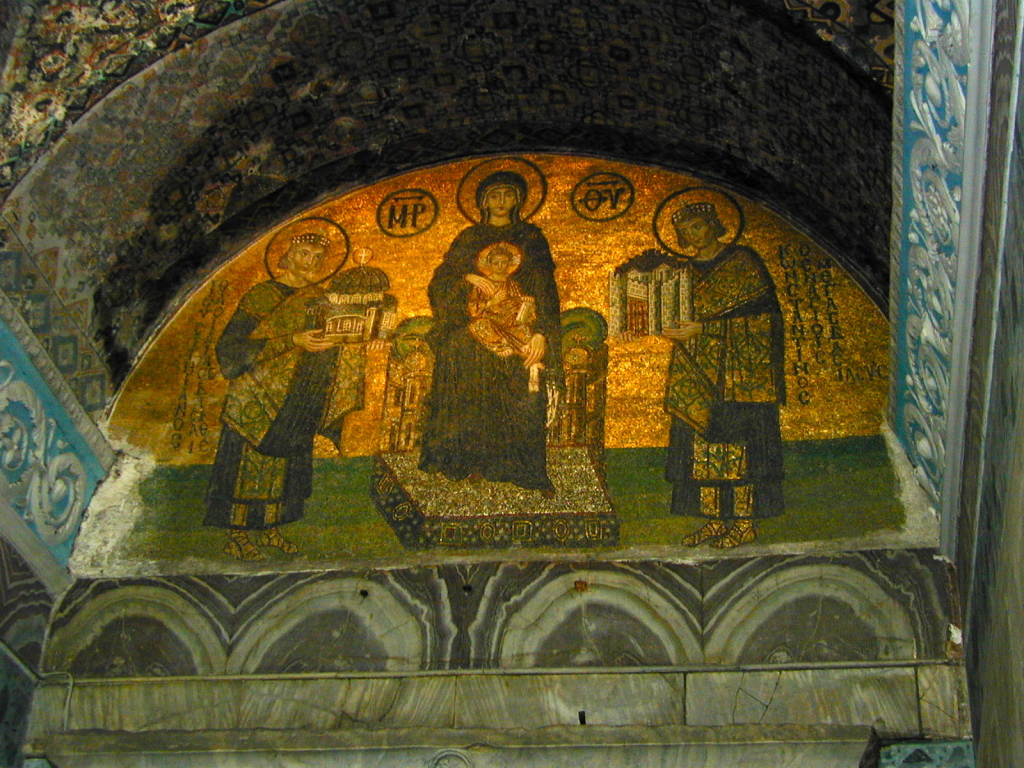 Mosaic at entrance