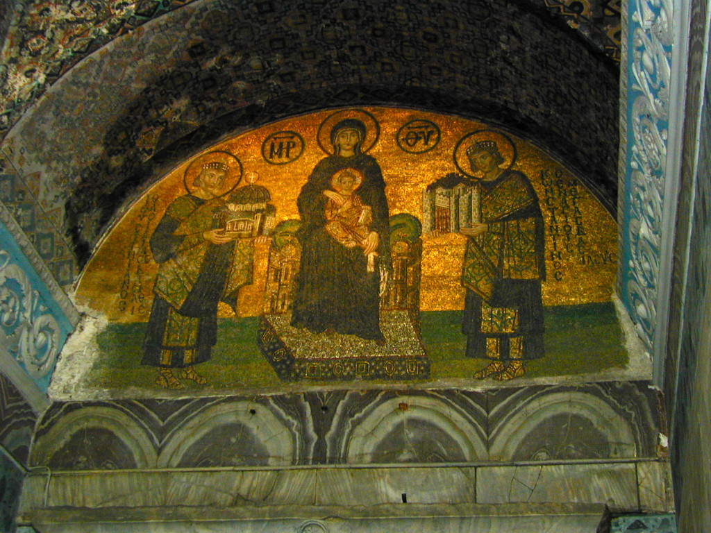 Mosaic at entrance